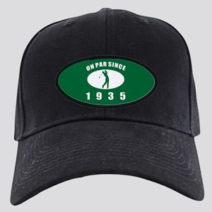 1935 Golfer's Birthday Black Cap