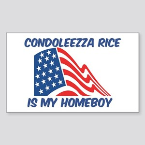 CONDOLEEZZA RICE is my homebo Sticker (Rectangular