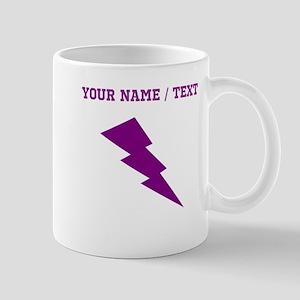 Custom Purple Lightning Mugs