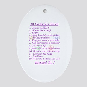 13 Goals of a Witch Oval Ornament