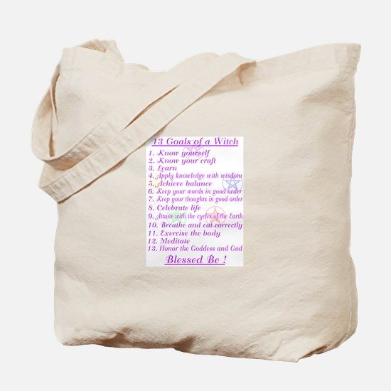 13 Goals of a Witch Tote Bag