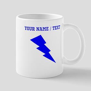 Custom Blue Lightning Mugs