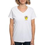Iacobacci Women's V-Neck T-Shirt