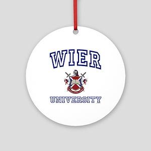 WIER University Ornament (Round)