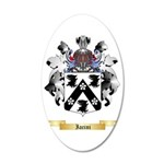Iacini 35x21 Oval Wall Decal