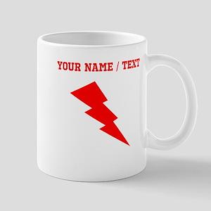 Custom Red Lightning Mugs