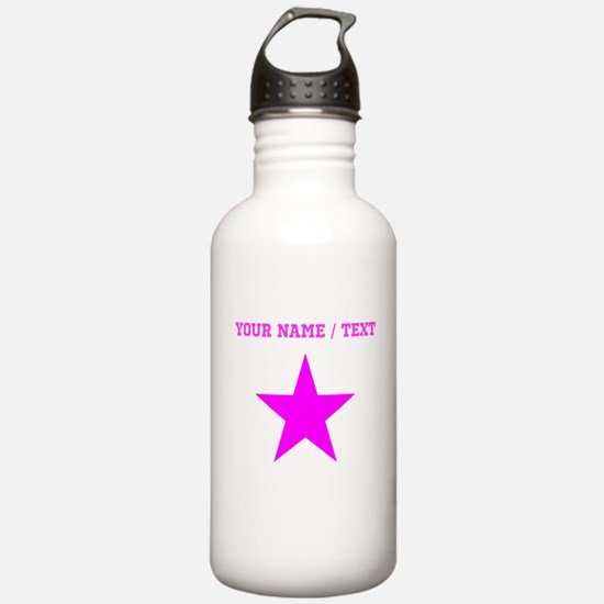 Custom Pink Star Water Bottle