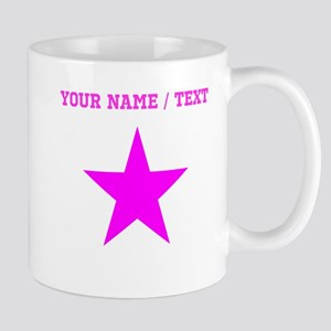 Custom Pink Star Mugs