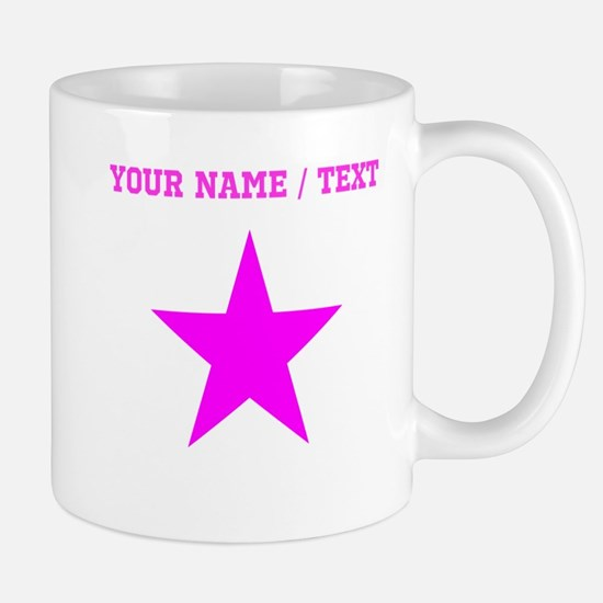 Custom Pink Star Mugs