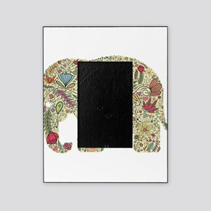 Floral Elephant Silhouette Picture Frame