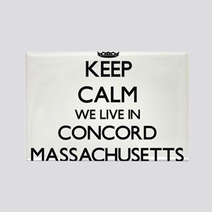 Keep calm we live in Concord Massachusetts Magnets