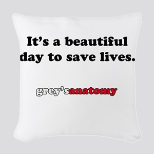 It's A Beautiful Day Woven Throw Pillow