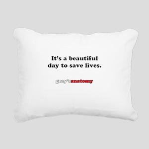 It's a beautiful day Rectangular Canvas Pillow