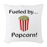 Fueled by Popcorn Woven Throw Pillow