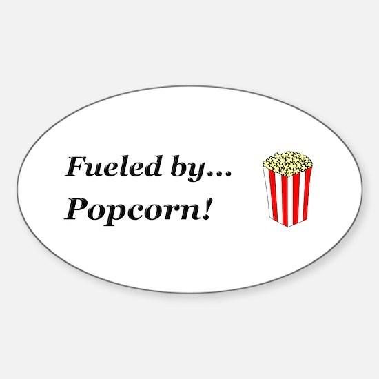 Fueled by Popcorn Sticker (Oval)