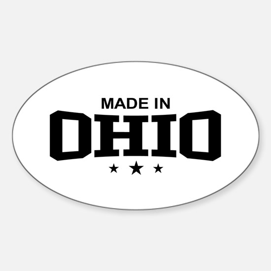 Made In Ohio Oval Decal