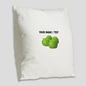Custom Cabbage Burlap Throw Pillow