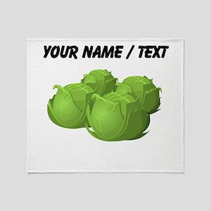 Custom Cabbage Throw Blanket