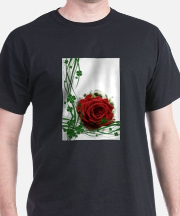 Rose With Four Leaf Clovers T-Shirt