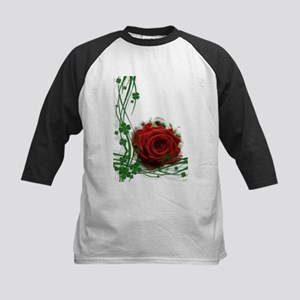 Rose With Four Leaf Clovers Baseball Jersey