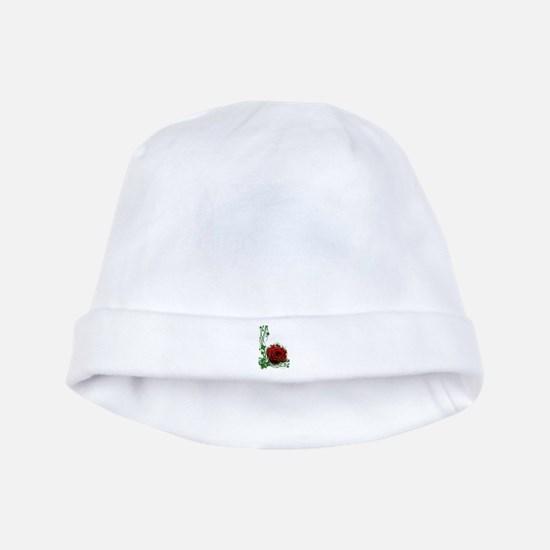 Rose With Four Leaf Clovers baby hat