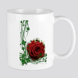 Rose With Four Leaf Clovers Mugs