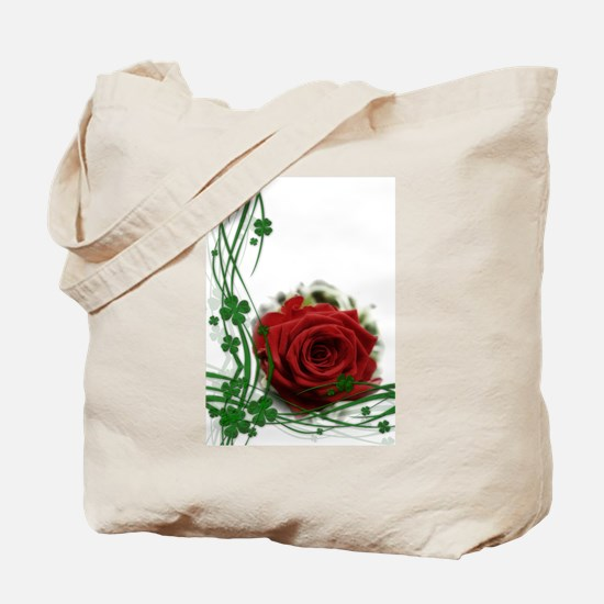 Rose With Four Leaf Clovers Tote Bag