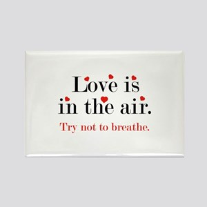 Love Is In The Air Rectangle Magnet