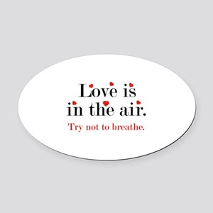 Love Is In The Air Oval Car Magnet