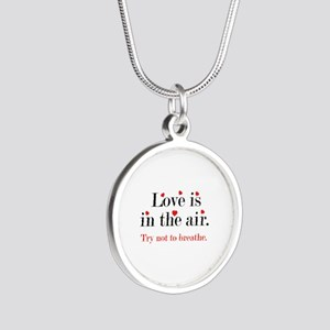 Love Is In The Air Silver Round Necklace