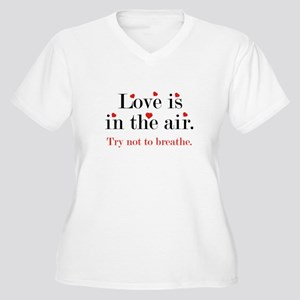 Love Is In The Air Women's Plus Size V-Neck T-Shir
