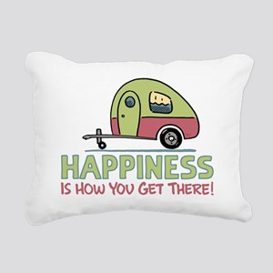 Happiness Is How You Get Rectangular Canvas Pillow