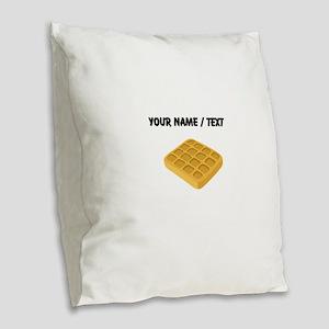 Custom Waffle Burlap Throw Pillow