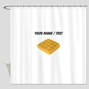 Custom Waffle Shower Curtain