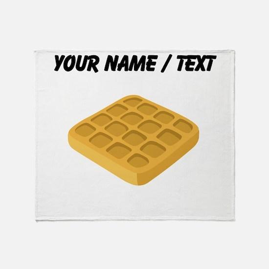 Custom Waffle Throw Blanket