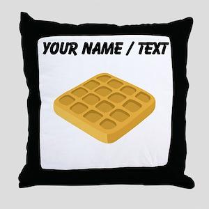 Custom Waffle Throw Pillow