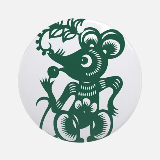 Rat Chinese Asian Astrology Zodia Ornament (Round)