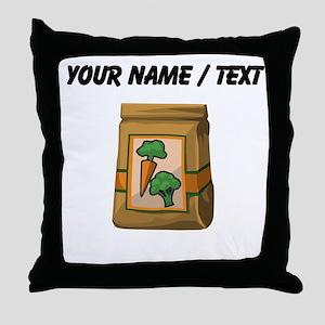 Custom Bag Of Vegetables Throw Pillow