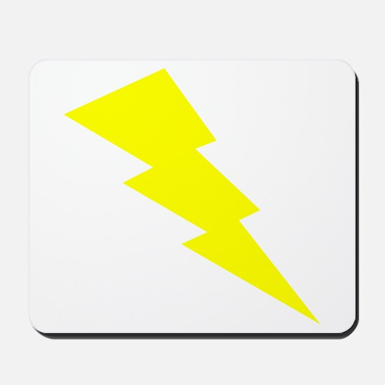 Yellow Lightning Mousepad