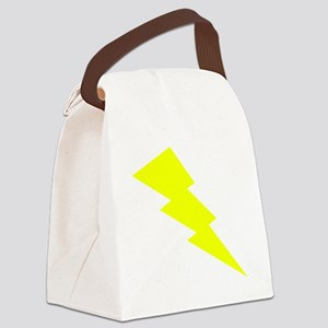 Yellow Lightning Canvas Lunch Bag