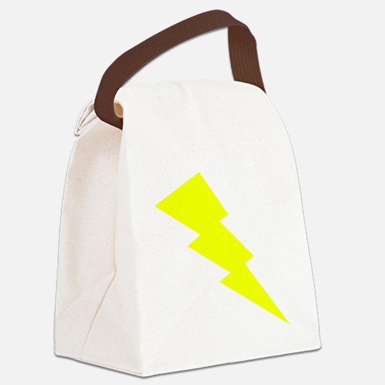 Yellow Lightning Canvas Lunch Bag