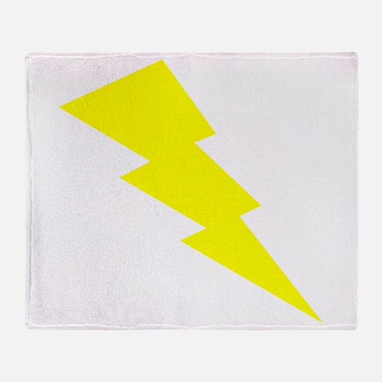 Yellow Lightning Throw Blanket