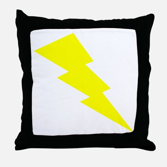 Yellow Lightning Throw Pillow