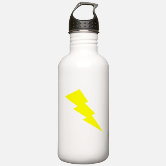 Yellow Lightning Water Bottle