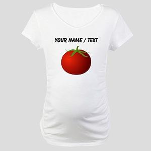 Custom Tomato Maternity T-Shirt
