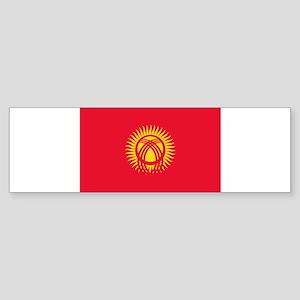 Kyrgyzstan Flag Bumper Sticker