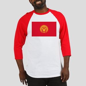 Kyrgyzstan Flag Baseball Jersey