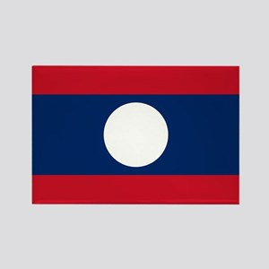 Laos Flag Rectangle Magnet