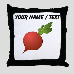 Custom Radish Throw Pillow