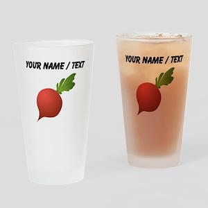Custom Radish Drinking Glass